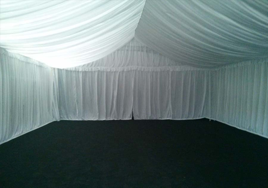 Fairy Light Conopy Ceiling Drapes Red Carpet Hire Rope