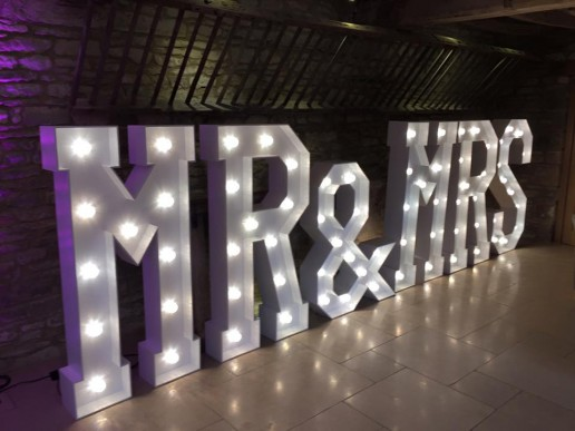 mr mrs light up letters