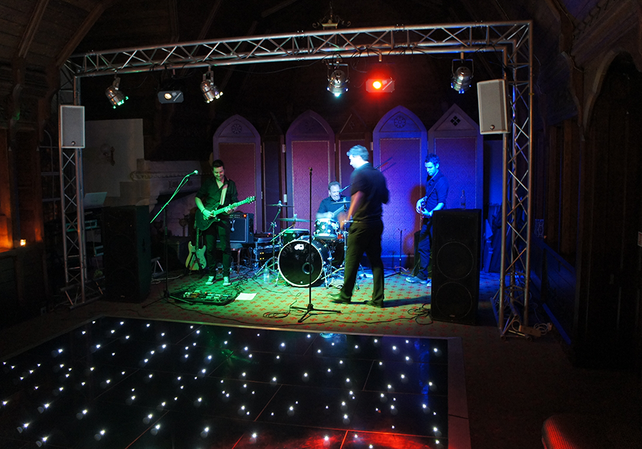 Black Starlit Dance Floor Hire Warwickshire