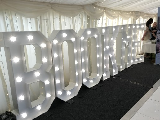 Book Me light up letters