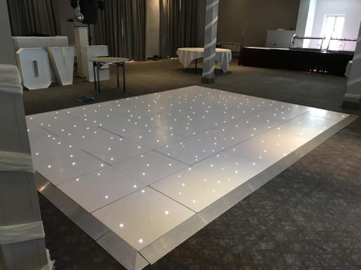 white led twinkle dance floor