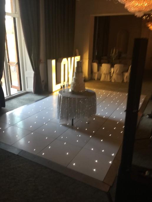 White led starlit dance floor
