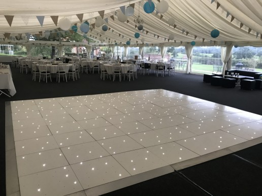 white led twinkle dance floor