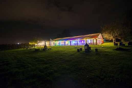 colourful moodlighting in marquee