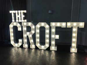 The Croft Light Up Letters