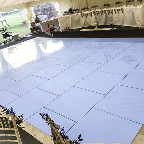 Blue Dance Floor Hire