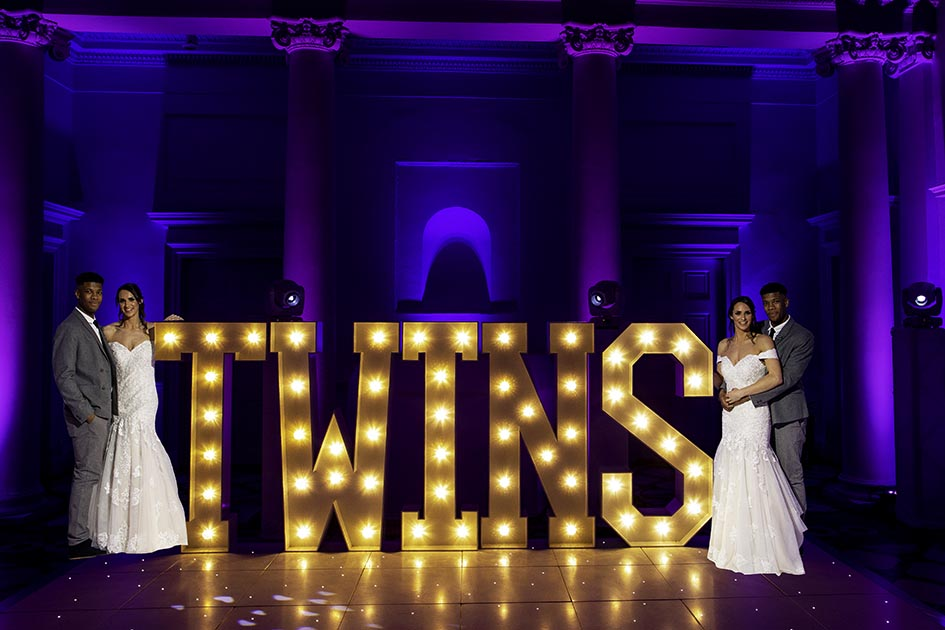 Twins Light Up Letters