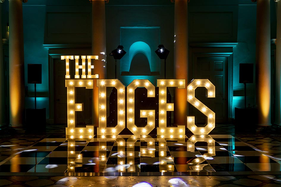 The Edges Light Up Letters Compton Verney