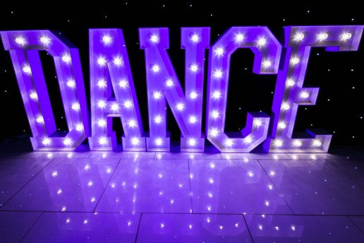 dance light up letters