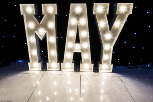 may light up letters